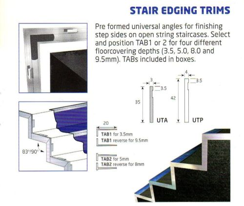 Stair Edge Trims  Quantum RWSQUTA